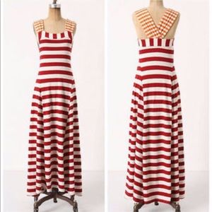 HWR Anthro split stripe red white yellow maxi S